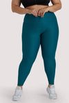 Wolf & Whistle Teal Wet Look Curve Leggings