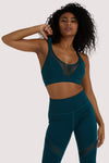 Wolf & Whistle Eco Teal Racer Back Sports Bra