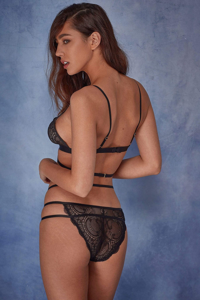 Wolf & Whistle Frankie lace strappy soft cup bra