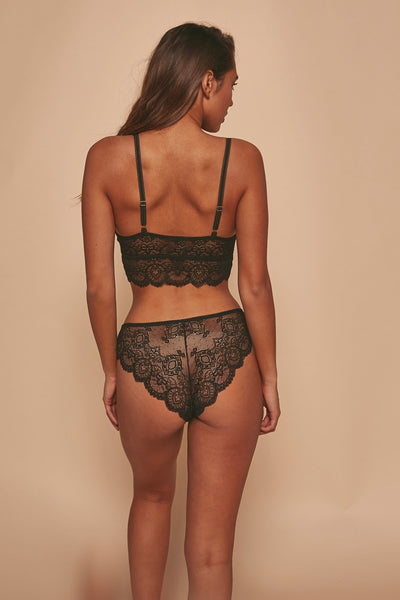 Wolf & Whistle Ariana Lace Bralet Black