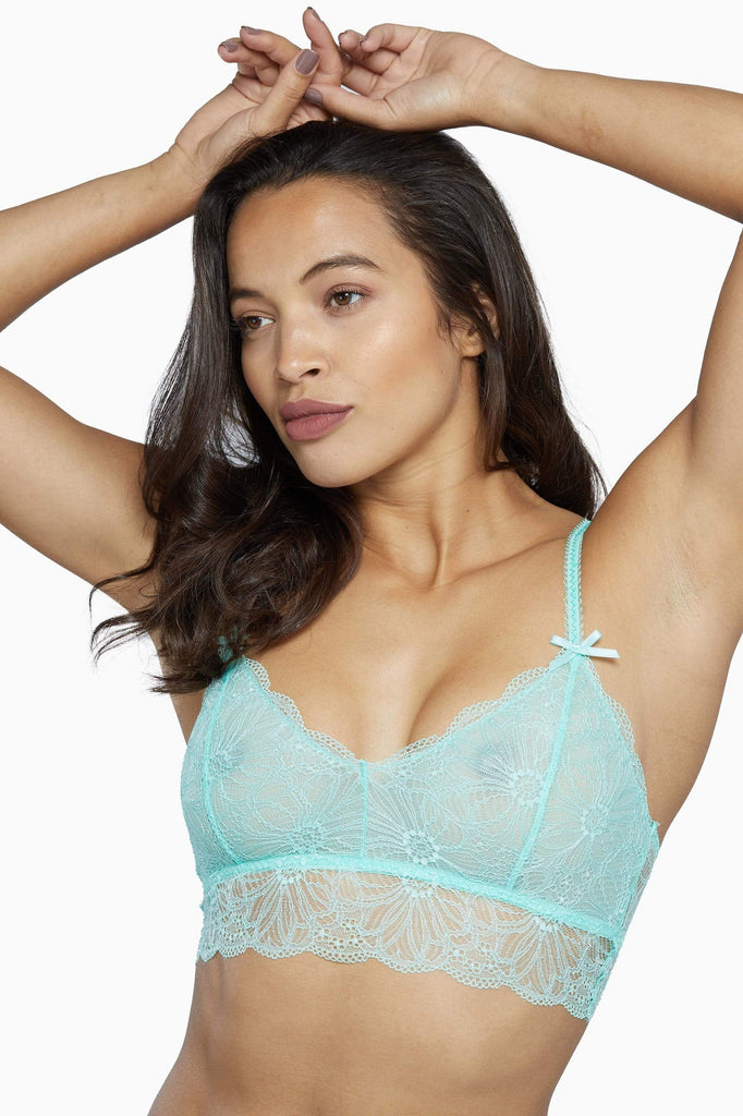 Wolf & Whistle Ariana Everyday Lace Bralette Mint