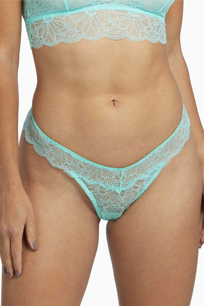 Wolf & Whistle Ariana Everyday Lace Thong Mint
