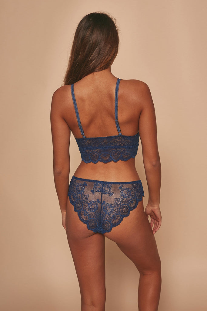 Wolf & Whistle Ariana Lace Bralet Navy