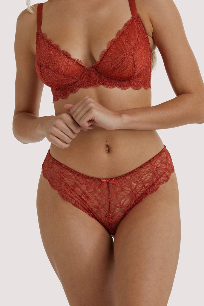Wolf & Whistle Ariana Everyday Lace Brief Intense Rust