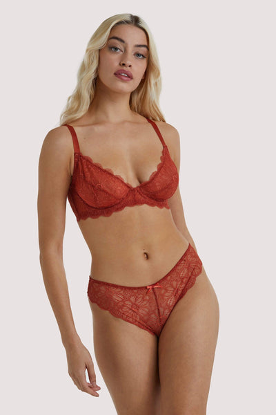 Wolf & Whistle Ariana Everyday Lace Bra Intense Rust