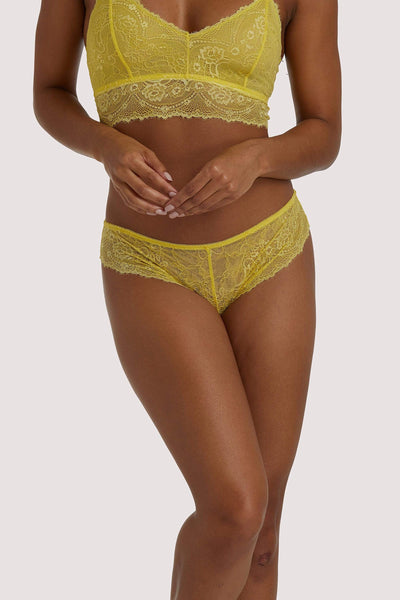 Wolf & Whistle Ariana Yellow Everyday Lace Brief