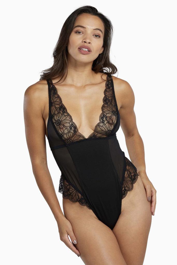 Wolf & Whistle Madden Harness Mesh and Lace Body