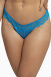 Wolf & Whistle Ariana Everyday Lace Thong Aqua Blue