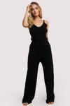 Wolf & Whistle Lounge Black Knitted Jumpsuit