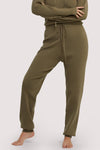 Wolf & Whistle Lounge Khaki Knitted Rib Jogger