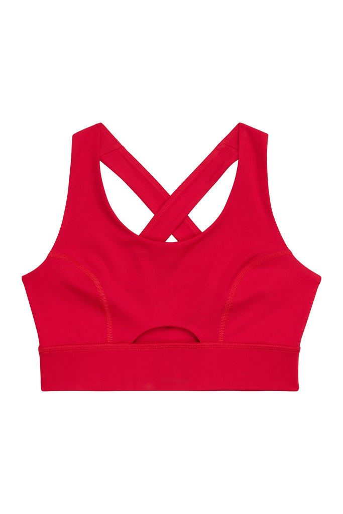 Wolf & Whistle Cross Back Bra Red Curve
