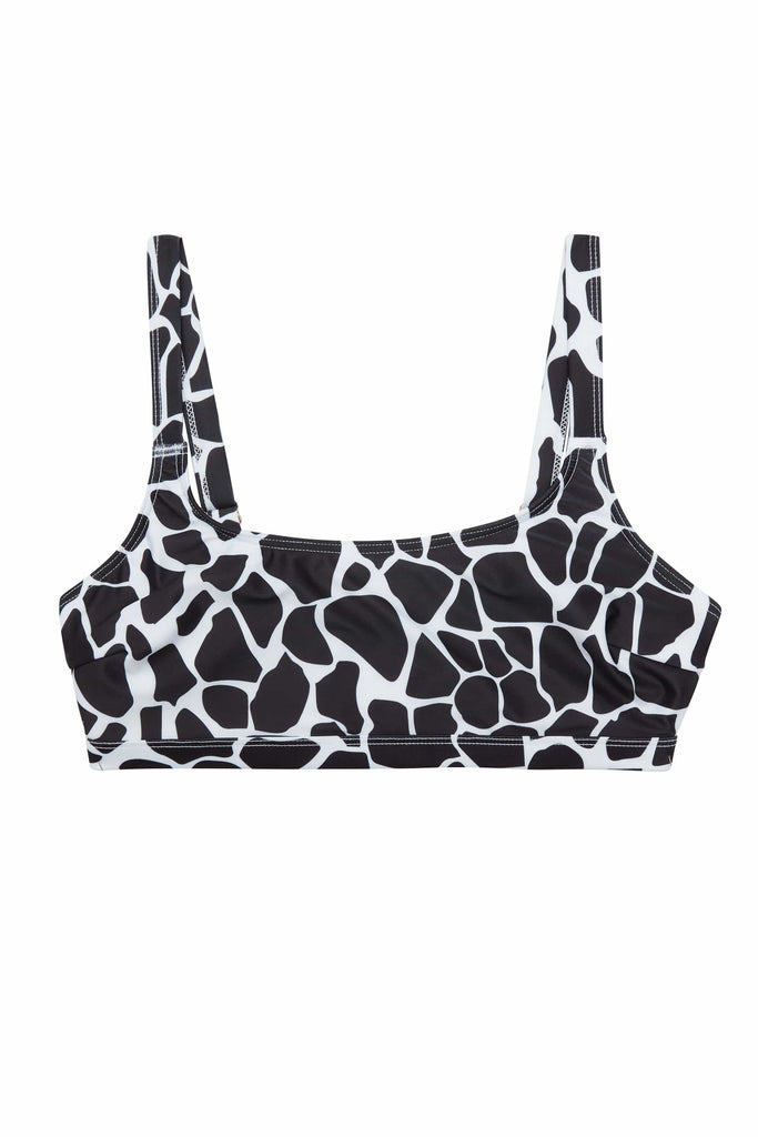 Wolf & Whistle White Eco Giraffe Bikini Top