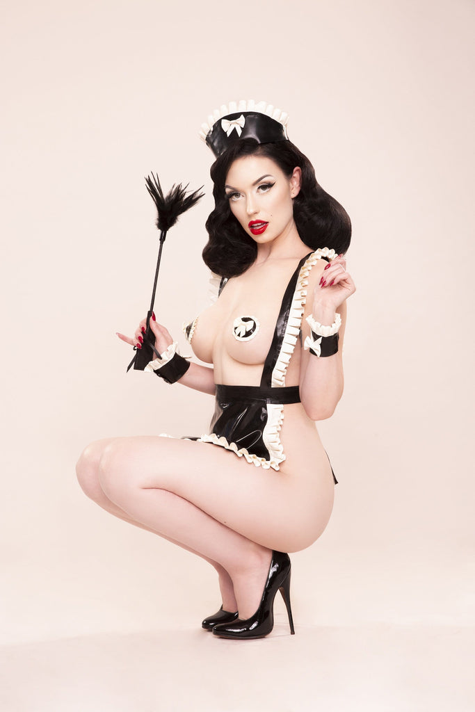 Bettie Page Latex Maid Apron