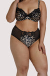 Dita Von Teese Millicent Leopard High Waist Curve Brief
