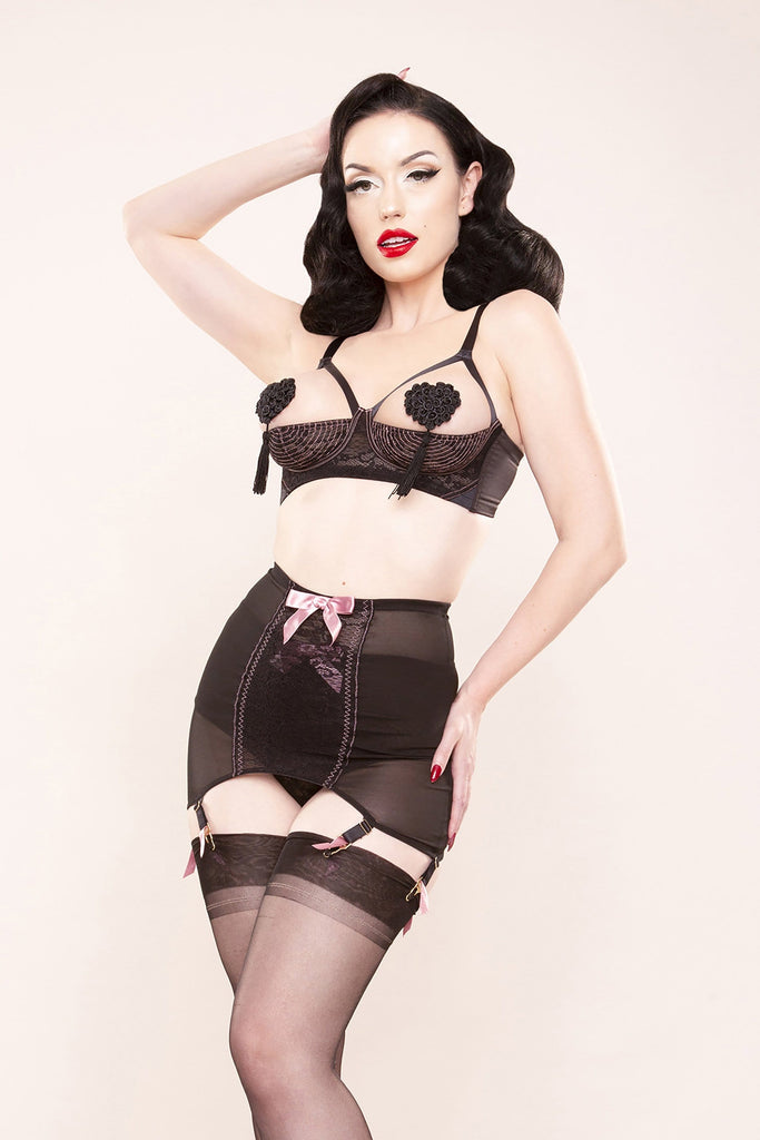 Bettie Page Lace Girdle