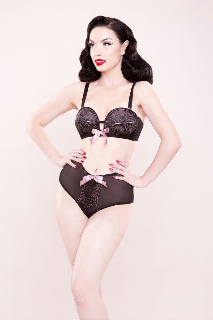 Bettie Page Lace Overwire Bra A - E