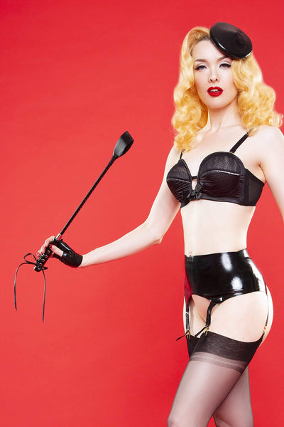 Bettie Page Latex Suspender