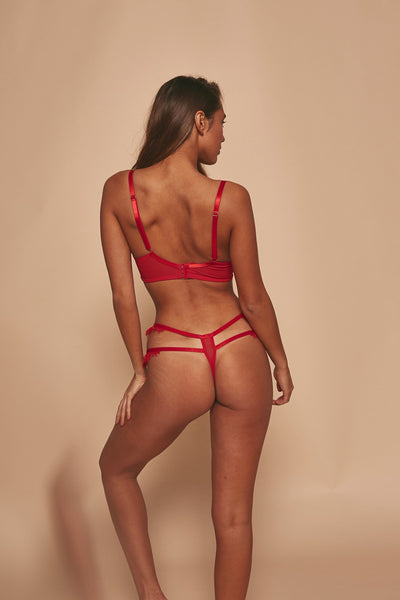 Wolf & Whistle Megan Red Lace Thong