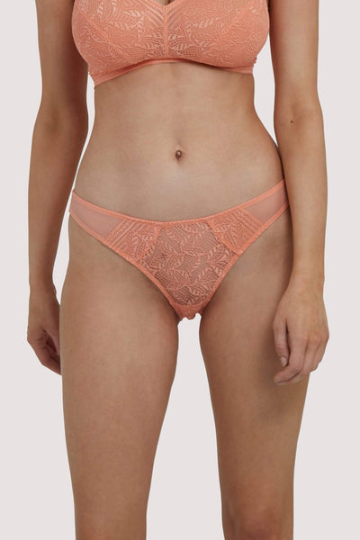 Deja Day Emma Coral Brazilian Lace Brief