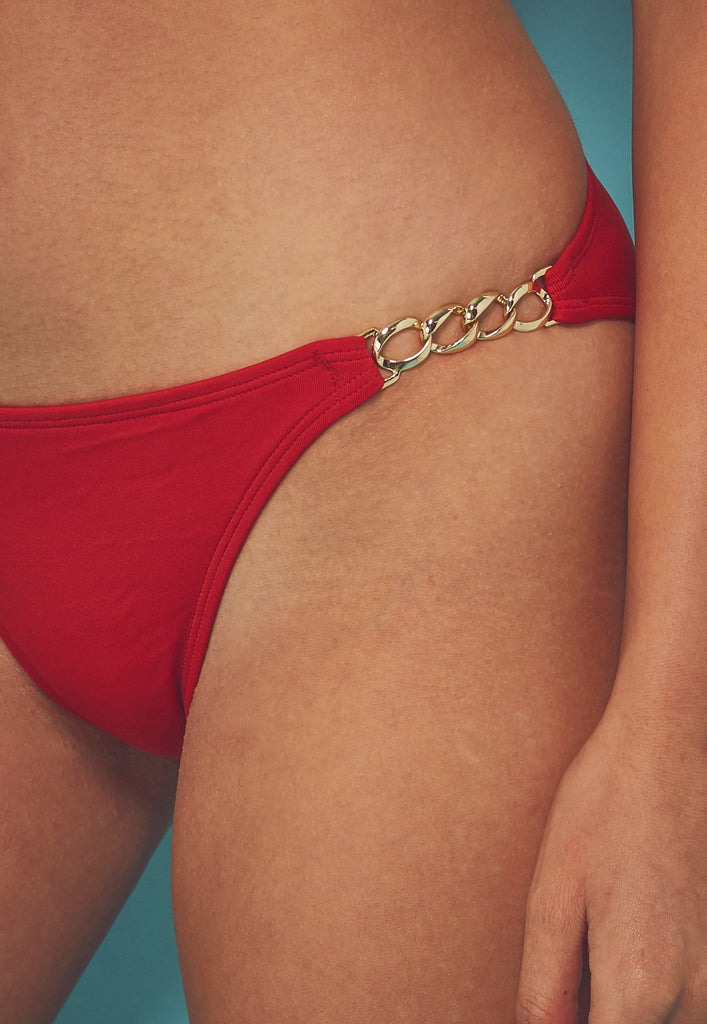 Wolf & Whistle Red chain hipster brief