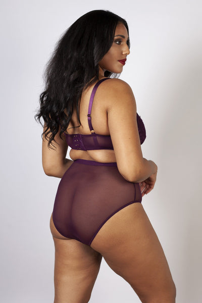 Gabi Fresh Bella Lace High Waist Brief Aubergine