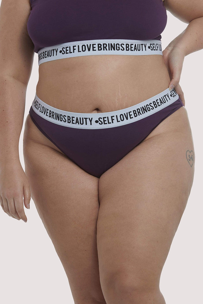 Felicity Hayward Self Love Purple Curve Brief