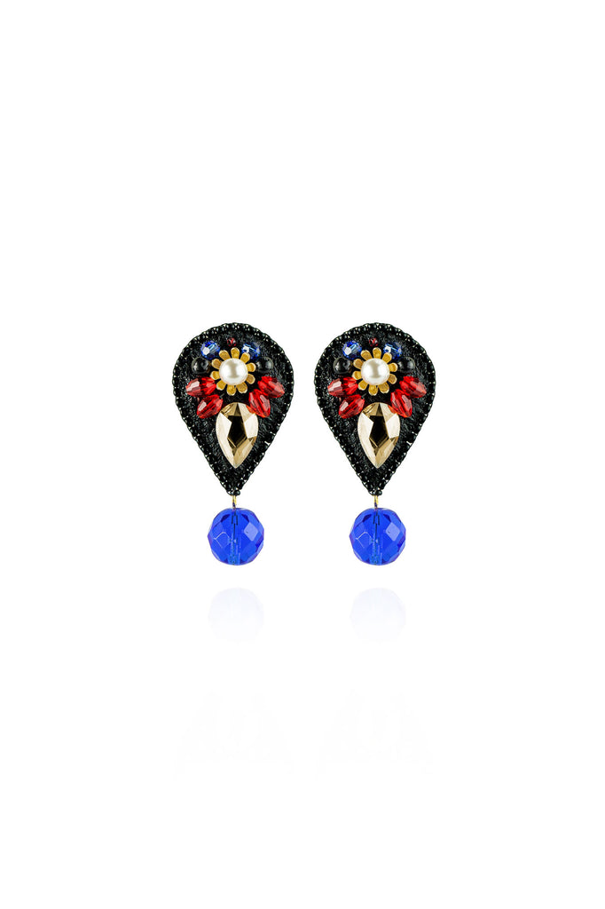Chloë Earrings in Crimson Cobalt