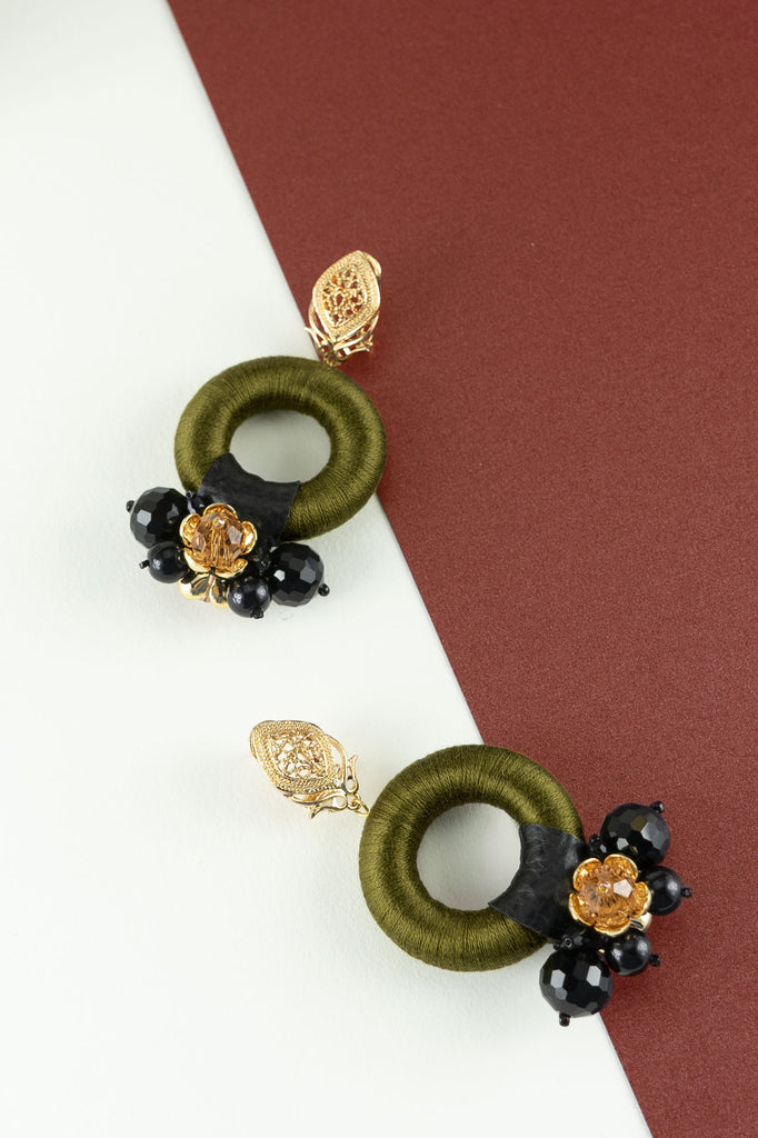 Daphne Earrings in Olivine