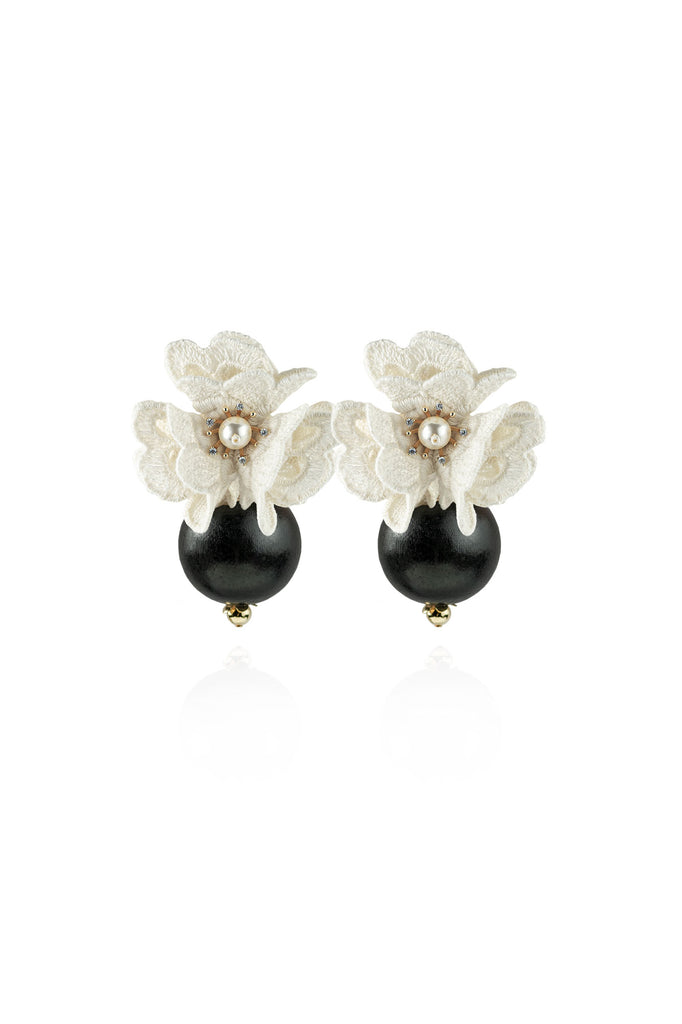 Isabella Earrings in Antique White