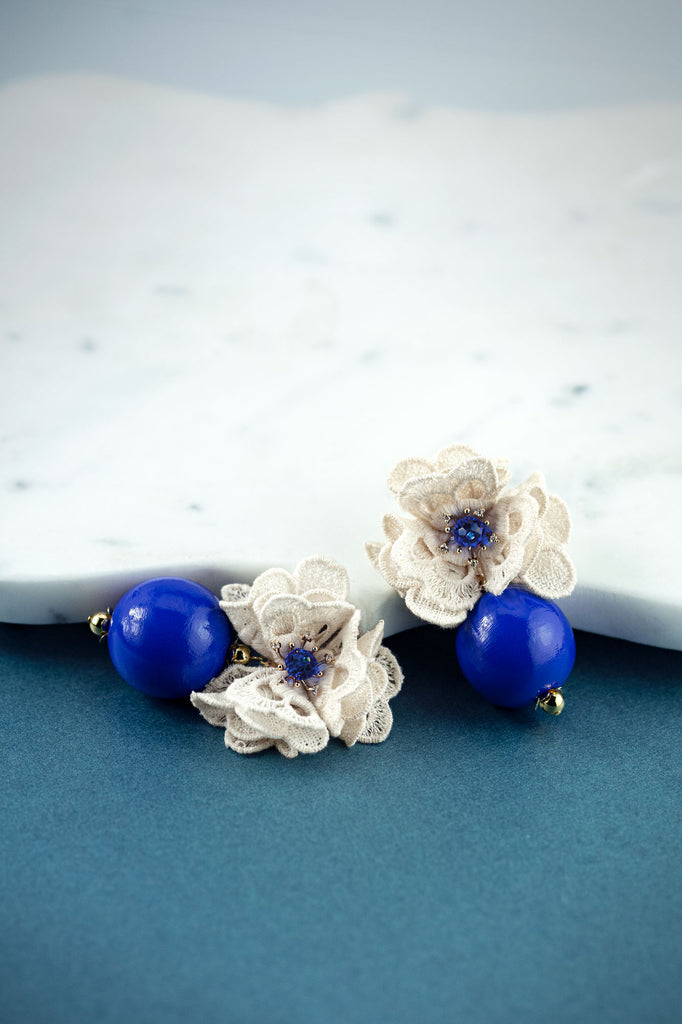 Isabella Earrings in Electric Sapphire