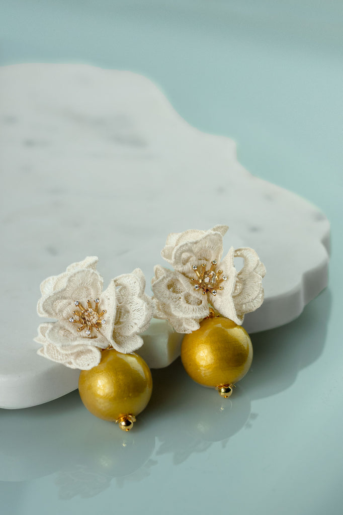 Isabella Earrings in Gold Rush