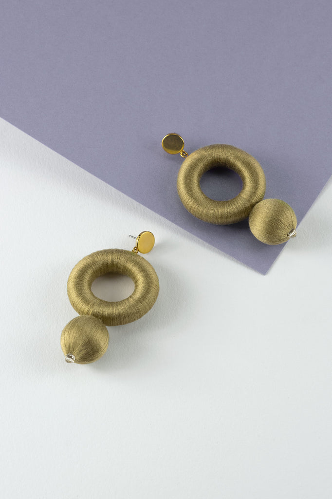 Saskia Earrings in Crisp Sage