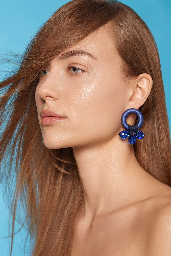 Saule Earrings in Persian Blue