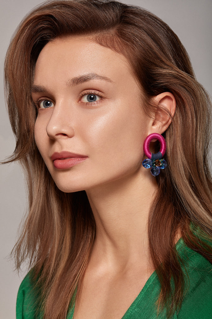 Saulė Earrings in Sky Orchid