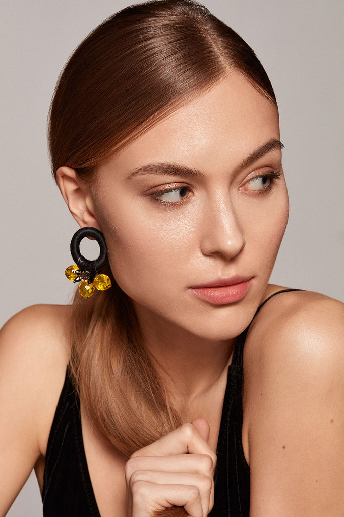 Saulė Earrings in Sunbeam Glow