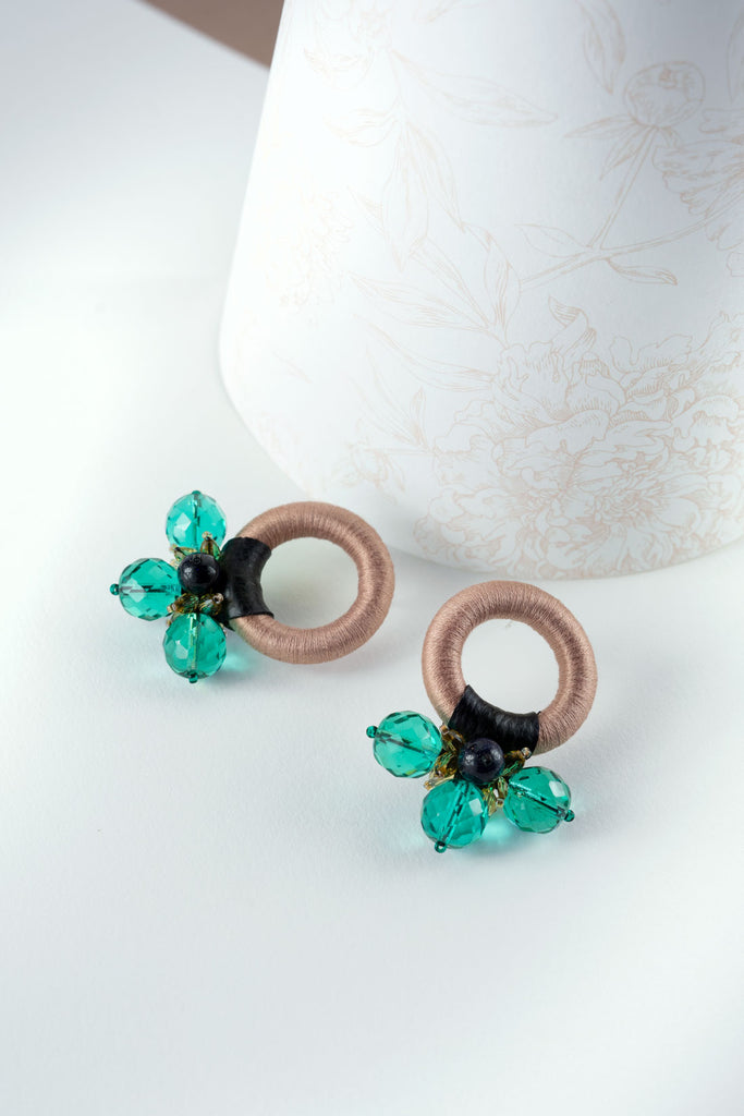 Saulė Earrings in Turquoise Sand
