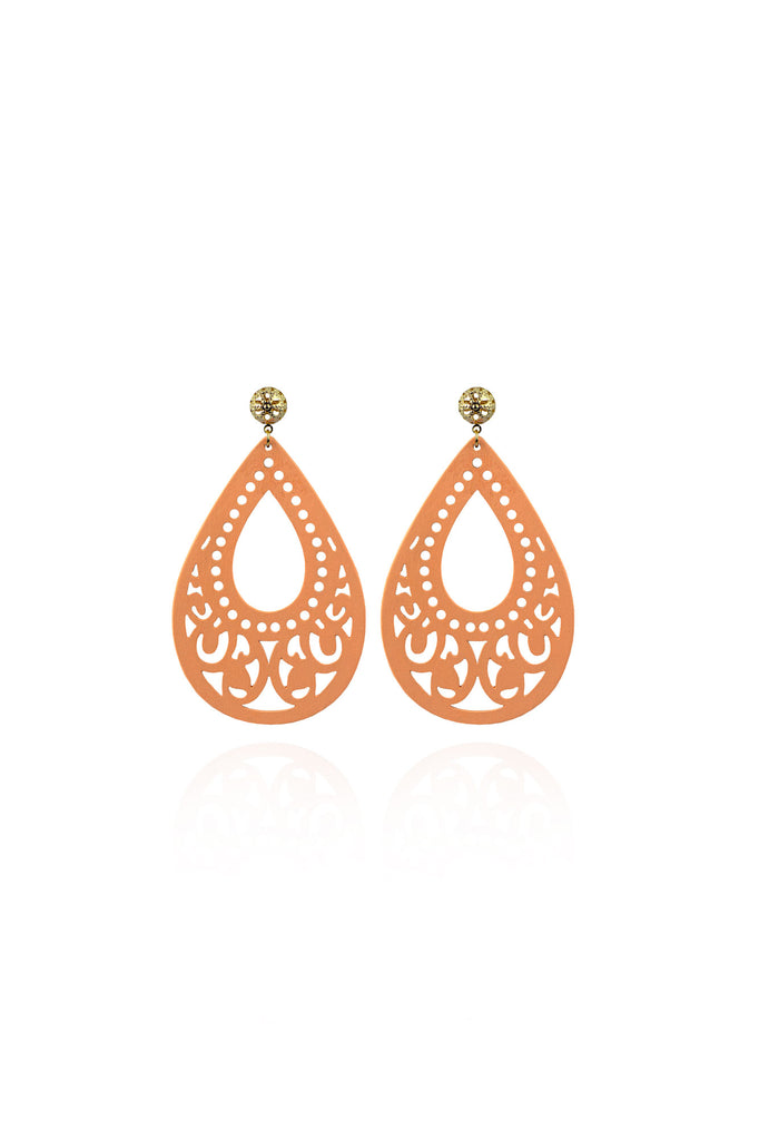 Simone Earrings in Peach Dream