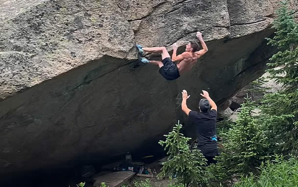 Three V16 Boulders in Eight Months by Drew Ruana!