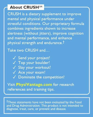 Crush pre-workout for climbers