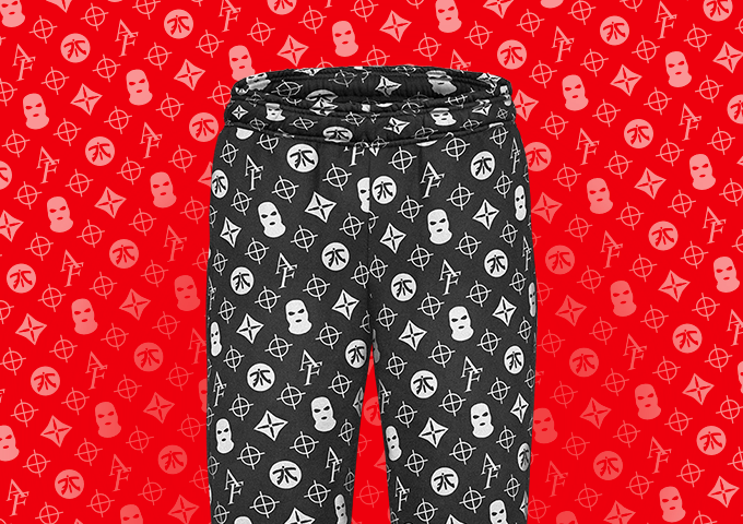 Anomaly Black Pattern Joggers