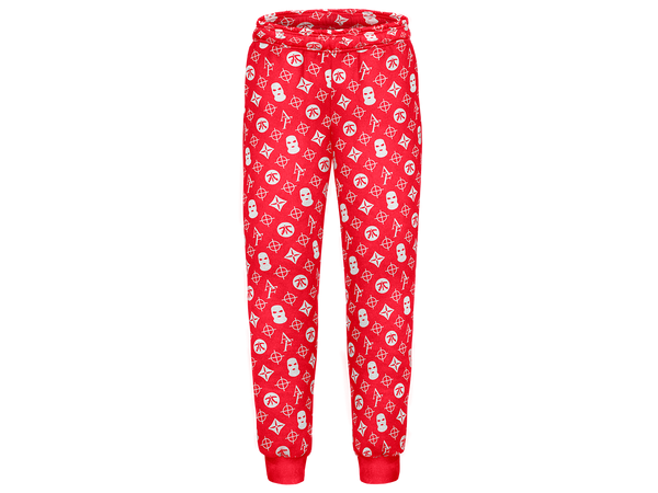 Anomaly Red Pattern Joggers