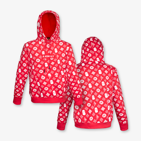 Anomaly Red Pattern Hoodie