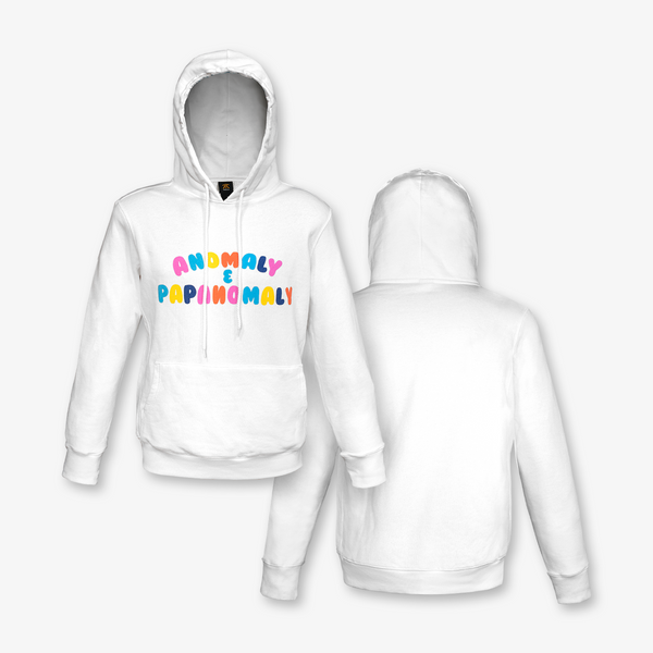 Anomaly Multi Colour Hoodie, White