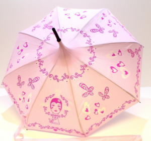 Anna Sui Parfums Dolly Girl Pink Pagoda Shaped Umbrella With Cover