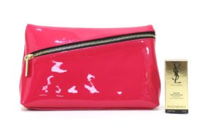 Ysl Makeup / Cosmetics Pouch Clutch Bag & Top Secrets Instant Moisture Glow 5ml