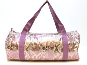 Roberto Cavalli – Just Cavalli Snakeskin Purple / Pink Ladies Gym / Weekend Bag