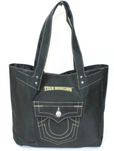 True Religion Ladies Black Shopper / Handbag Bag