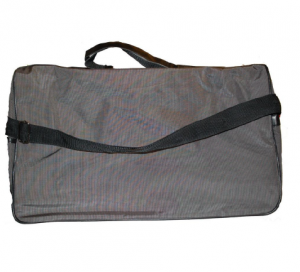 Usher Parfums Mens Grey with Black Trim Holdall / Duffle / Gym /Weekend, Bag