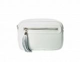 ANITA , LEATHER SMALL CROSS-BODY BAG , WHITE