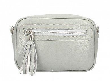 GINA , SMALL LEATHER CROSS BODY BAG WITH HANDLE DETAIL BLUSH